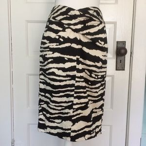 MICHEAL Micheal Kors Black & Cream Pencil Skirt, 4